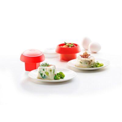 Kit 2 Ovos (Cilindrico e Cúbico) Vermelho