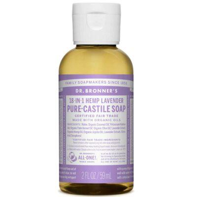"""Sabão Liquido Lavender – Dr. Bronner""""s (59ml)"""