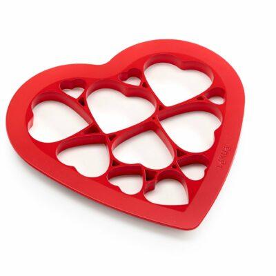 Forma bolachas coração vermelho