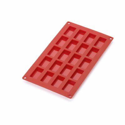 Forma para 20 mini financier em silicone vermelho