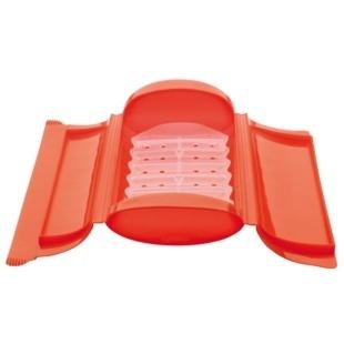 Caixa de Vapor com Tabuleiro para Micro-ondas ou Forno Vermelho