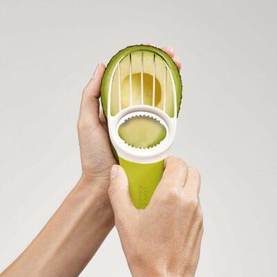 Cortador para Abacates 3 em 1 Verde