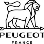 LOGO PEUGEOT NOIR - BLACK