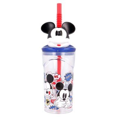 Copo com palhinha Mickey  360ml