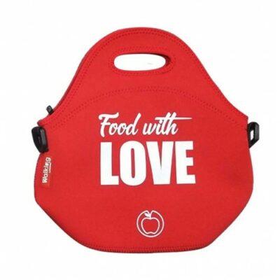 LANCHEIRA NEOPRENE 30X30X17CM FOOD WITH LOVE